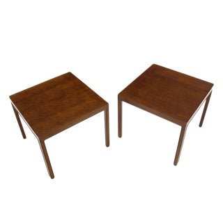 Pair of Large Square Lamp End Tables by Dunbar