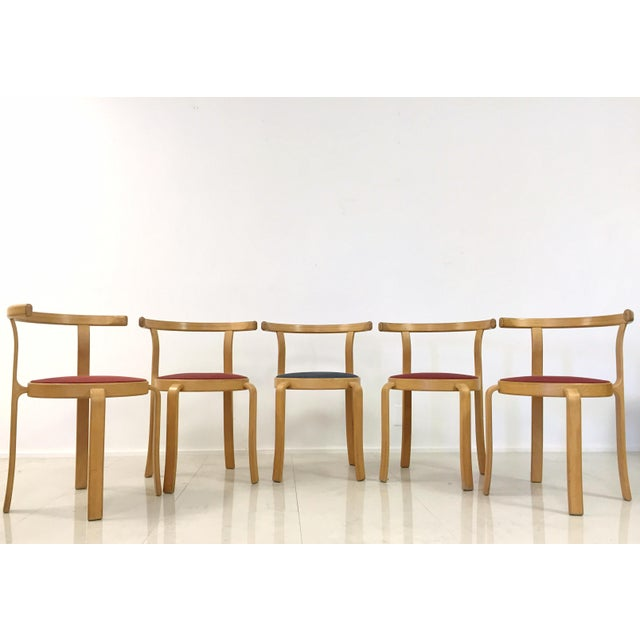 Danish Magnus Olesen Stacking Chairs - Set of 5 - Image 5 of 8