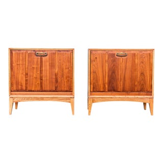 Lane Record Storage Cabinets - a Pair