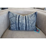 Image of Blue Batik Print Pillow