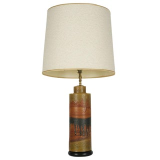 Marcello Fantoni Desert Tone Drip Glaze Ceramic Table Lamp