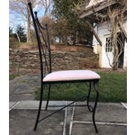 Image of Vintage Outdoor Wrought Iron Chairs - Set of 6