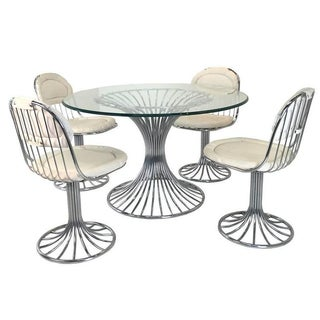Mid-Century Modern Sculpted Dining Set