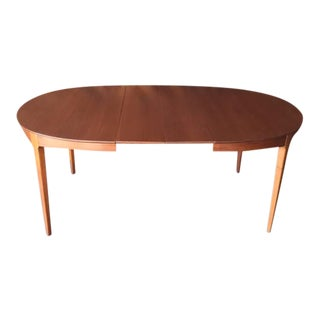 Mid-Century Refinished Walnut Dining Table