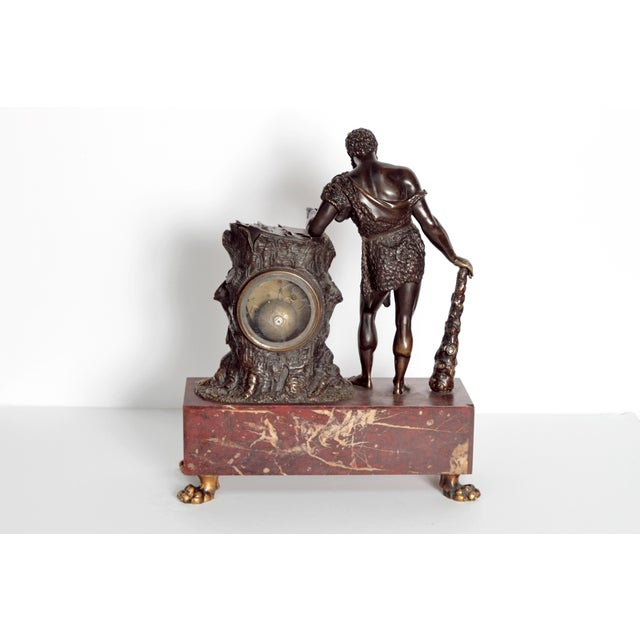 """French Empire """"Farnese Hercules"""" Mantel Clock attributed to Claude Galle - Image 8 of 11"""
