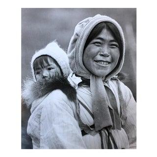 Vintage Alaskan Eskimo Mother & Baby Photograph