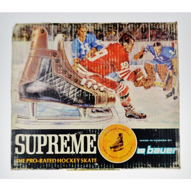 Vintage 1960's Bauer Hockey Skates Box and Skates - Image 8 of 10