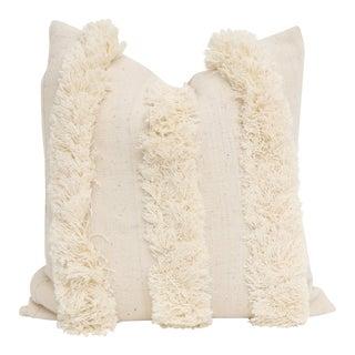 Vintage African Mudcloth Fringe Pillow
