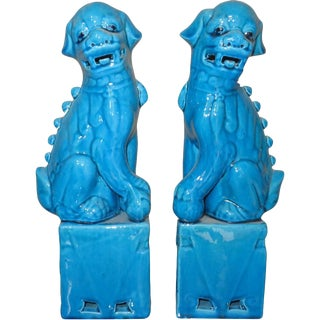 Blue Foo Dogs - A Pair