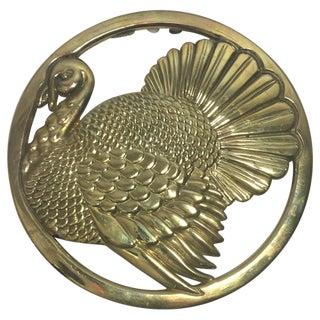 Gorham Brass Turkey Trivet