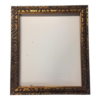 Mid-Century Gilt Carved Wood Frame