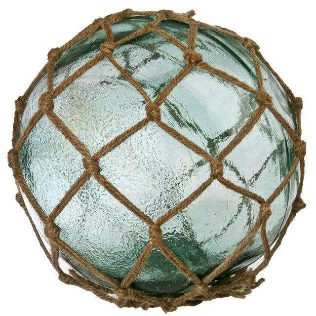 Aqua Glass Fishing Float With Net - Image 1 of 2