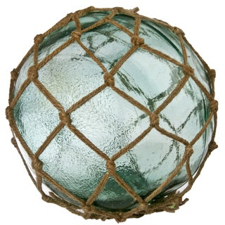 Aqua Glass Fishing Float With Net