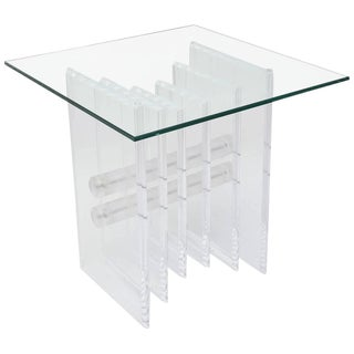 Lucite Plates Coffee Table Base