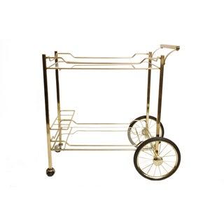 Vintage Brass and Glass Bar Cart