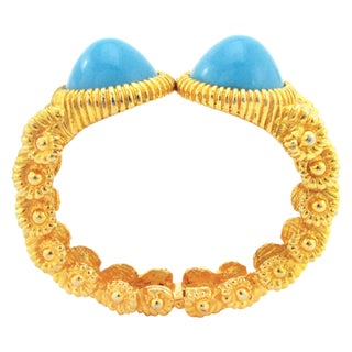 1960s Kenneth Jay Lane Bracelet with Turquoise