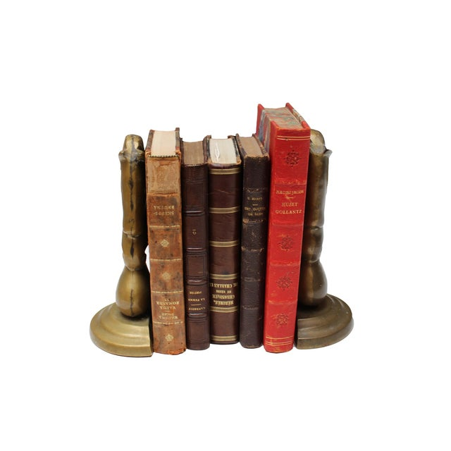 Vintage Brass Horse Bookends- A Pair - Image 4 of 4