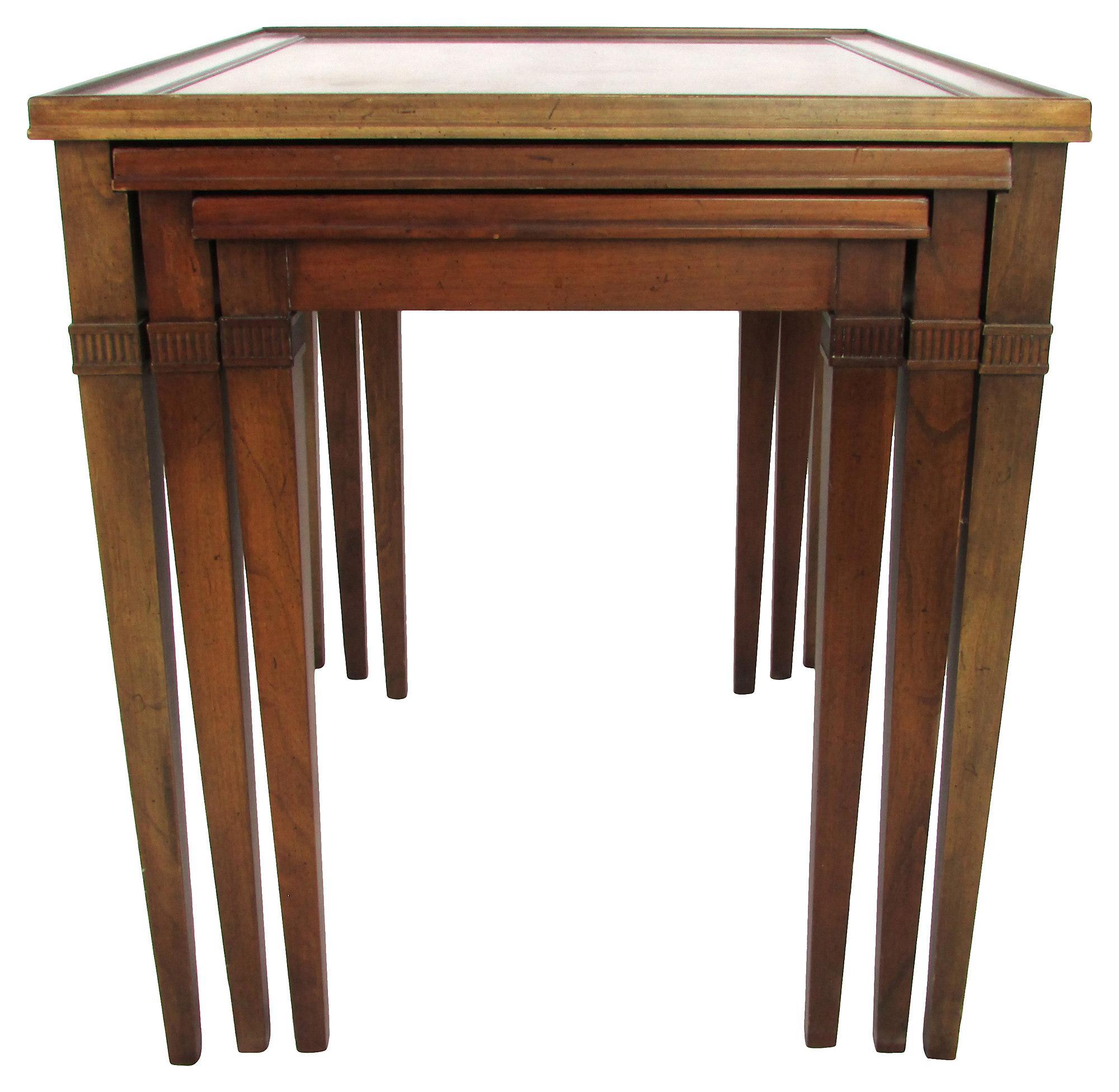 Perfect Image Of Regency Style Mahogany Nesting Tables   Set Of 3
