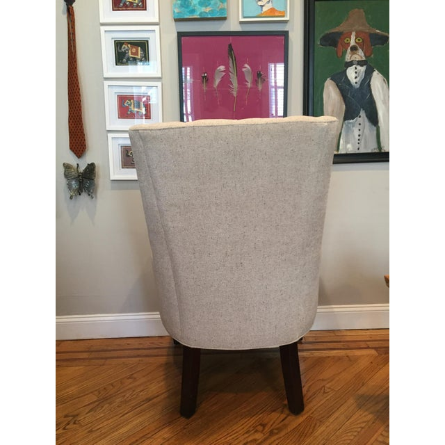 Custom Tufted Wingback Chair - a Pair - Image 5 of 11