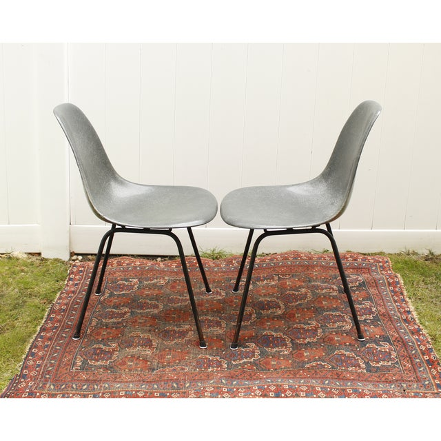 Gray Eames Fiberglass Shell Chairs - A Pair - Image 5 of 10