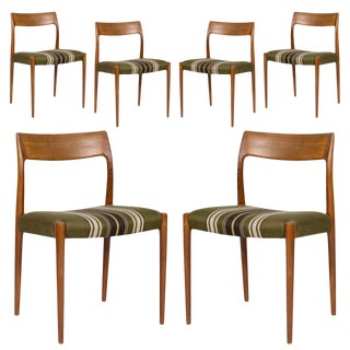 Set of Six Niels Møller Model #77 Dining Chairs