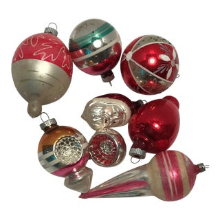 Vintage Ornaments - Set of 8