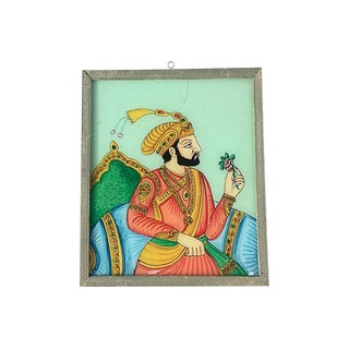 Indian Maharaja Églomisé Painting