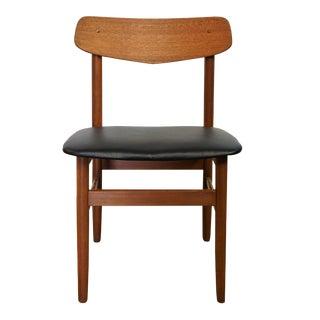 Danish Swoop Back Teak Chair