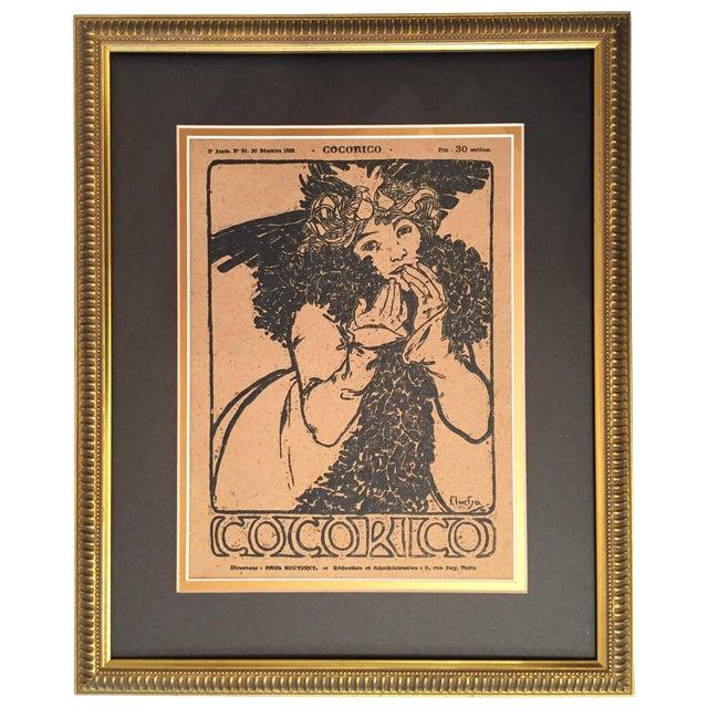 Framed 1899 Original Alphonse Mucha Cocorico Cover - Image 1 of 5