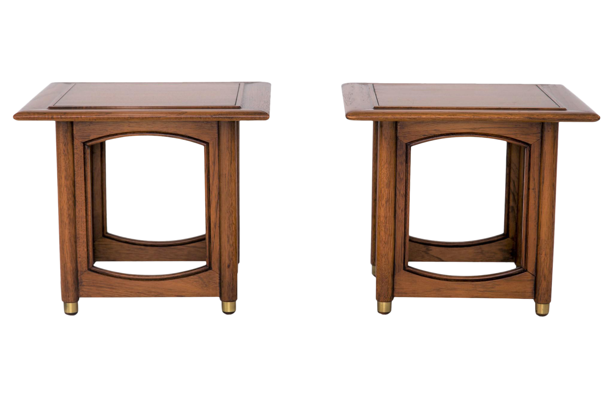 hekman midcentury side tables a pair