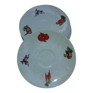 Mittertiech Vegetable Pattern Saucers - Set of 4