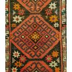 Image of Old Uzbek Small Pile Rug Napramash - 1′4″ × 3′6″