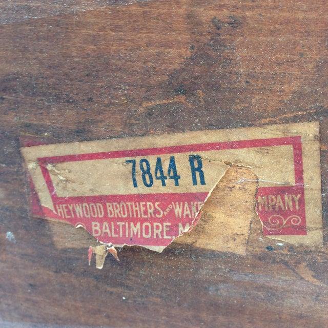 Vintage Heywood-Wakefield Wicker Bar Cart - Image 6 of 6
