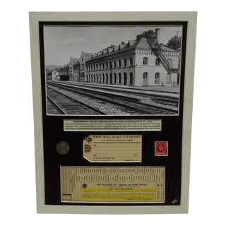 1941 Erie Railroad Company Multi-Media Collage