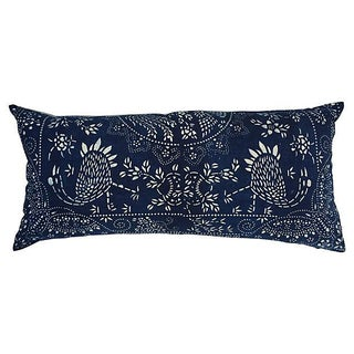 Indigo & White Batik Body Pillow