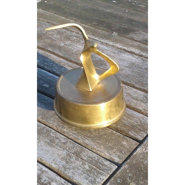 Mid Century Solid Brass Seagull Music Box - Image 2 of 6