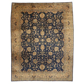 Antique Indian Agra Rug with Hollywood Regency Style -- 11'8 x 14'9