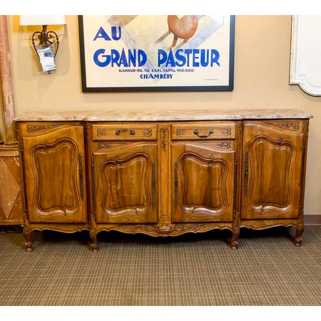 19th Century French Faux Painted Top Enfilade or Buffet - Image 2 of 7