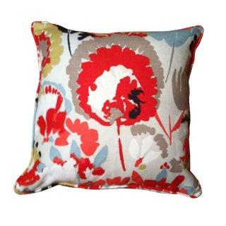 Designer Floral Pillows - A Pair