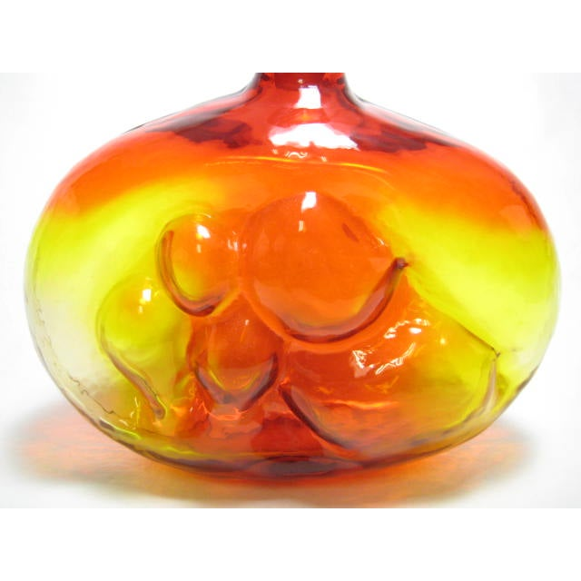 Husted Blenko Bubble Decanter #6310 in Tangerine - Image 7 of 9