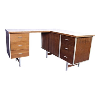 Knoll Mid-Century L Shaped Secretary Desk