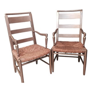 Vintage Baker Ladder Back Chairs - A Pair