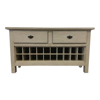 Contemporary Carved & Painted Wood Tuscan Style Sideboard
