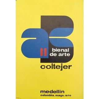 1970 Original Columbian Exhibition Poster, Bienal de Arte Medellin