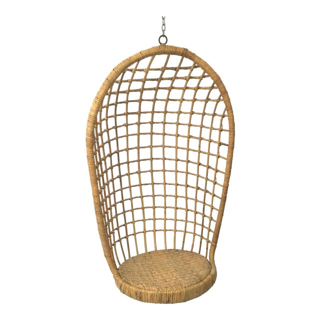 1960s Rohe Cane Hanging Chair - Image 1 of 5