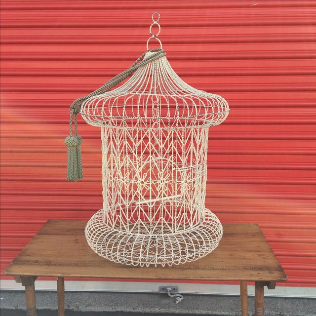 Vintage Shabby Chic Bird Cage - Image 2 of 9