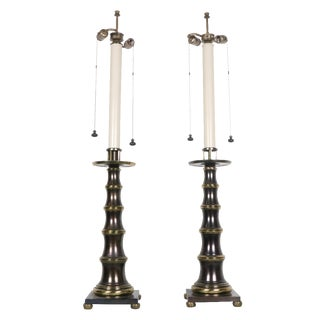 Stiffel Bronze Table Lamps - A Pair