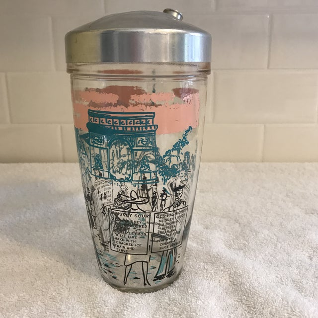 Mid-Century French Motif Cocktail Shaker - Image 4 of 7