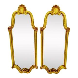 Vintage Mid-Century Gold Gilt Mirrors - A Pair