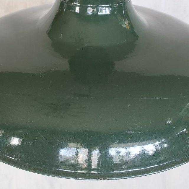 Image of Vintage Industrial Green Enamel Barn Lamp Shade